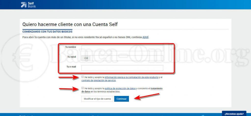 abrir cuenta online selfbank
