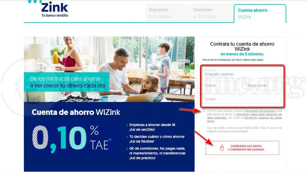 abrir cuenta wizink