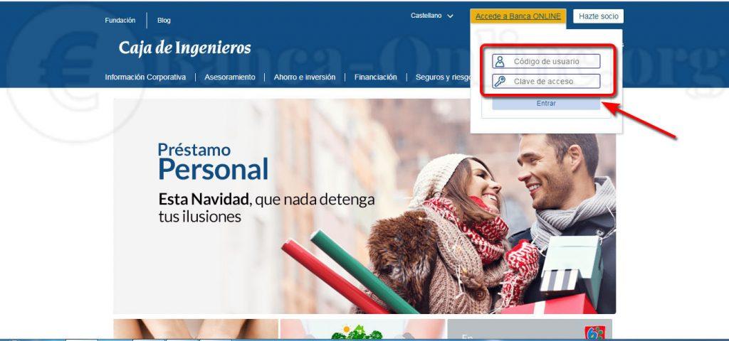 acceder a banca online caja de ingenieros
