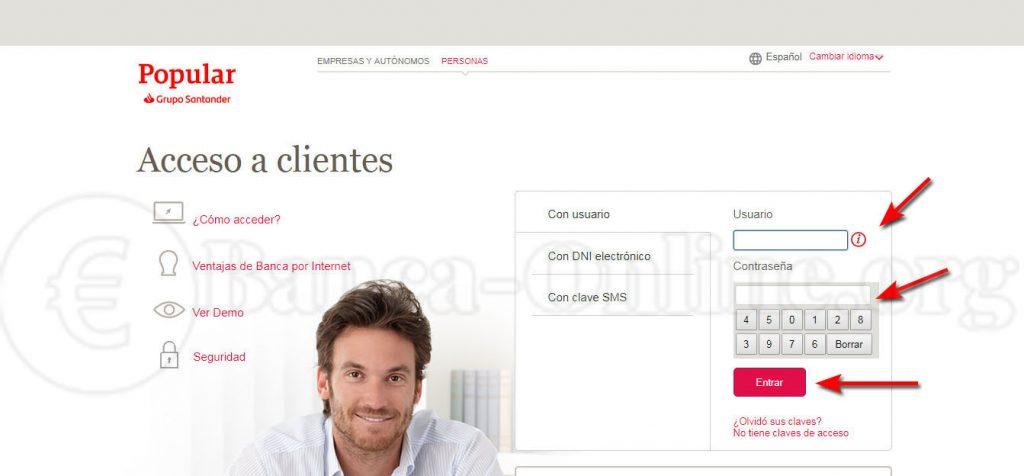 acceder banco online banco popular