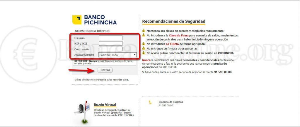 acceso banca internet banco pichincha