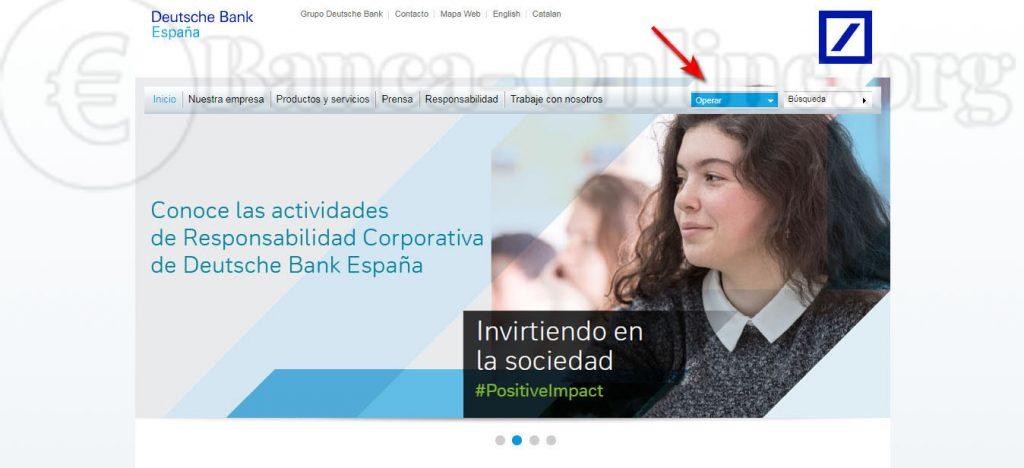 acceso banca online clientes personales deutsche bank