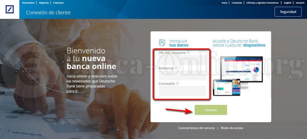 acceso banca online deutsche bank