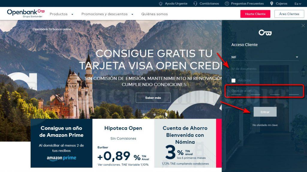 acceso clientes openbank