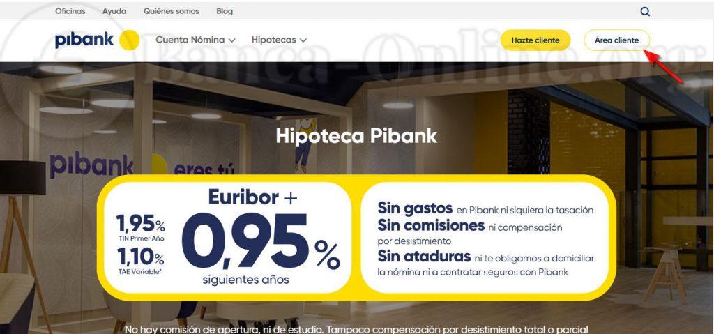 area cliente pibank