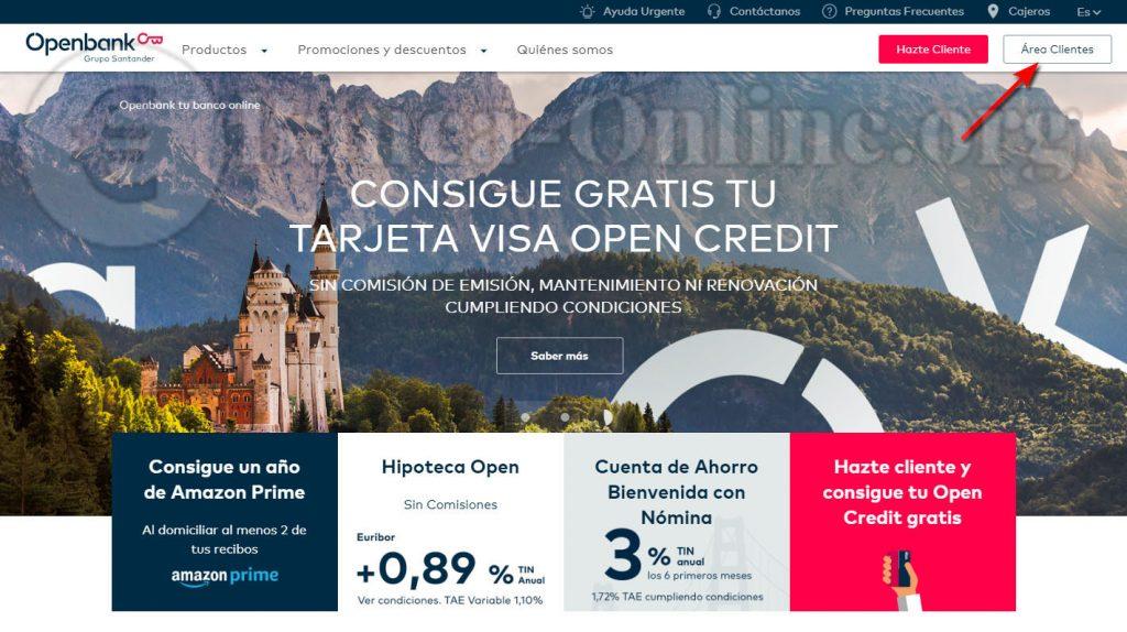 area clientes desde inicio openbank