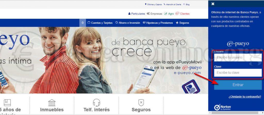 banca pueyo acceso clientes online