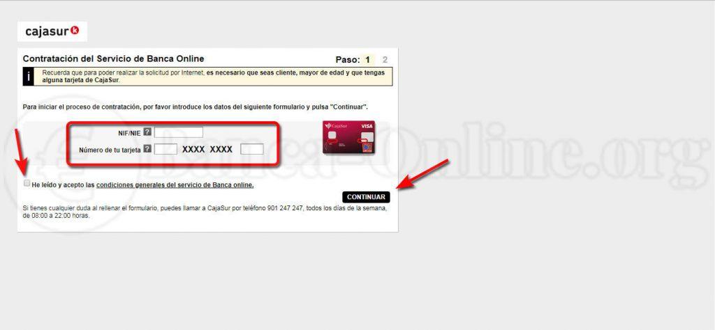 contratacion banca online