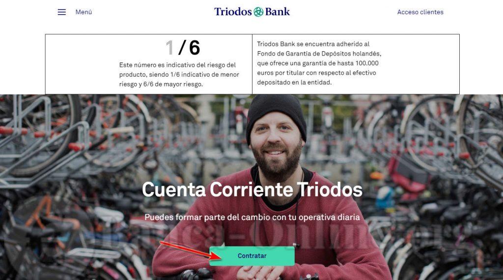 contratar cuenta corriente triodos bank