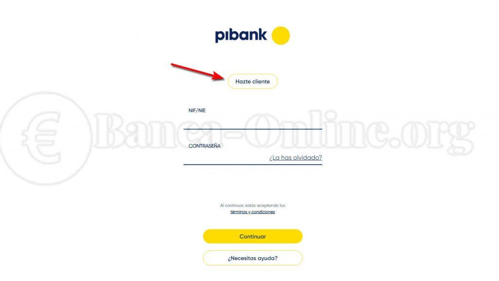 hacerse cliente pibank