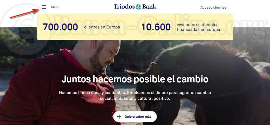 menu triodos bank