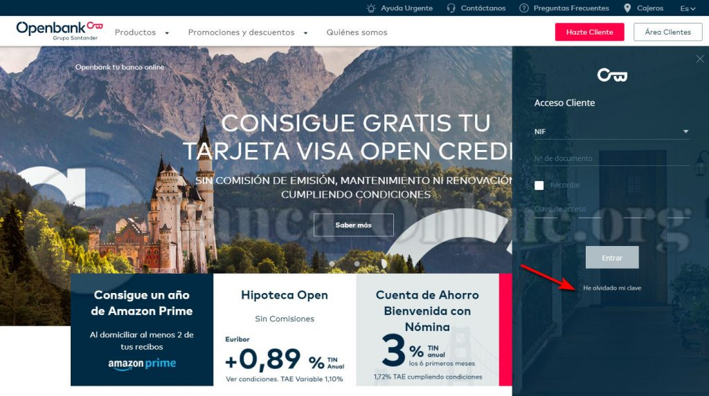 recordar claves openbank