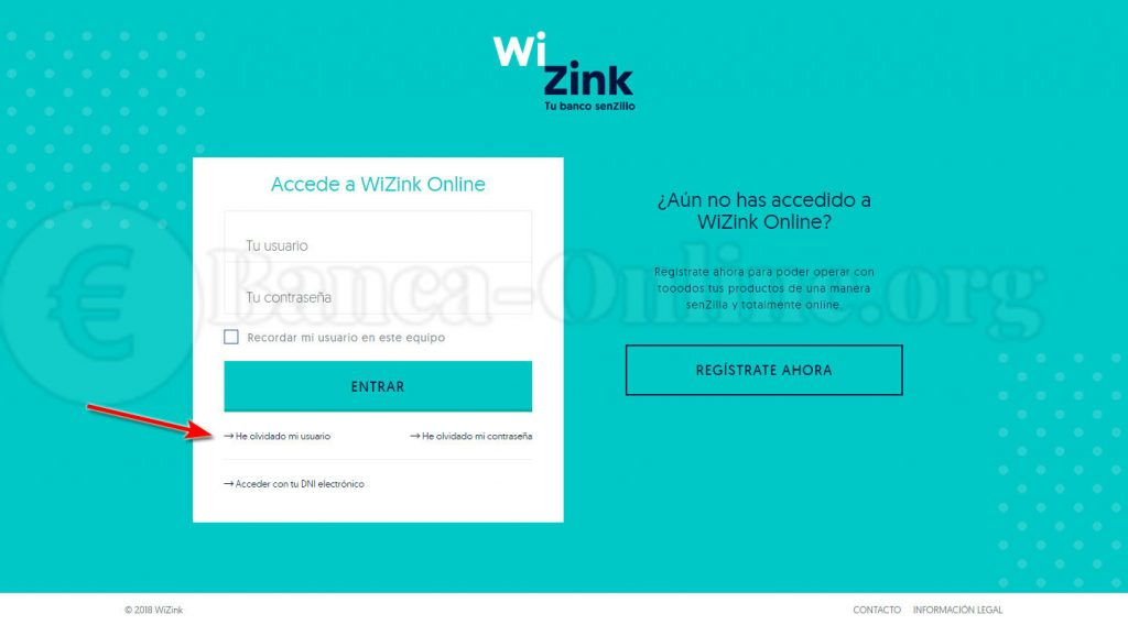 recordar usuario wizink