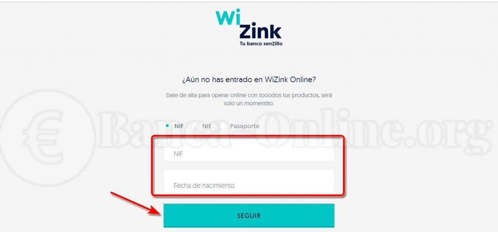 registro en wizink online