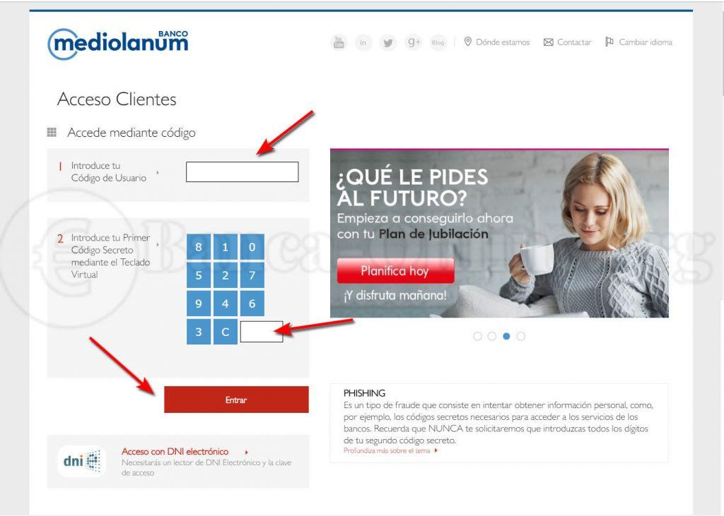 acceso clientes banco mediolanum