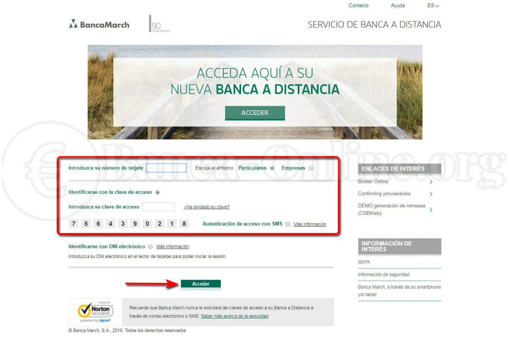 acceso online clientes version clasica