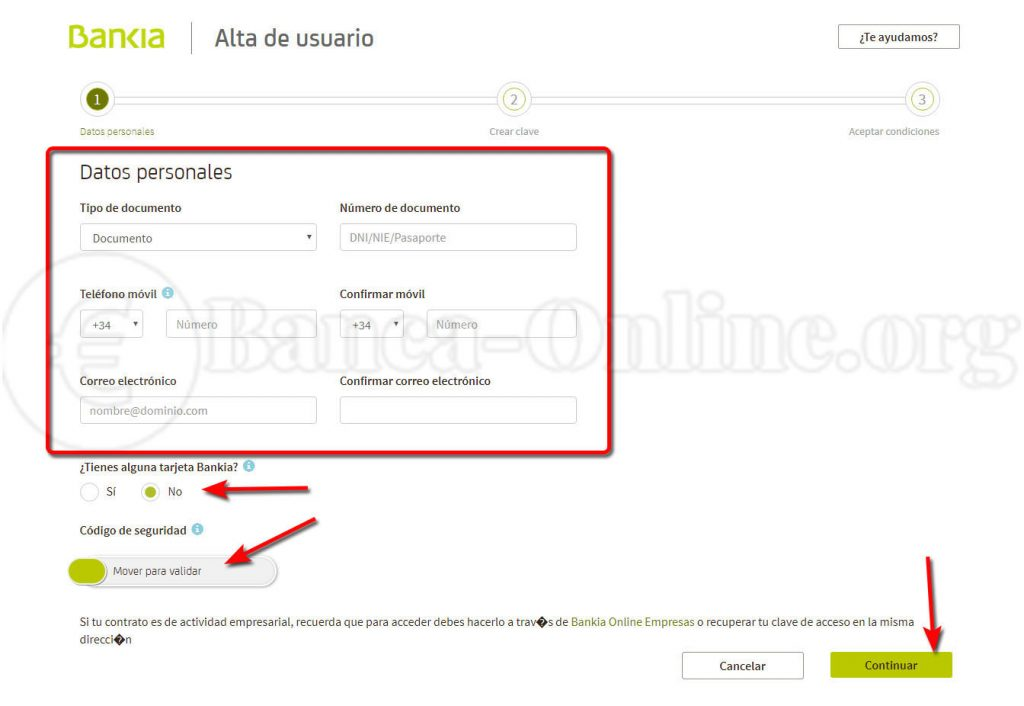 alta claves usuario banca online bankia